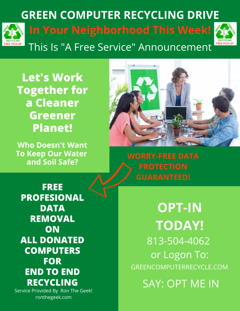 Computer Recycling Drive